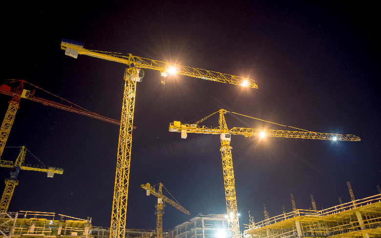 5 Benefits of LED Industrial Lighting at Construction Sites