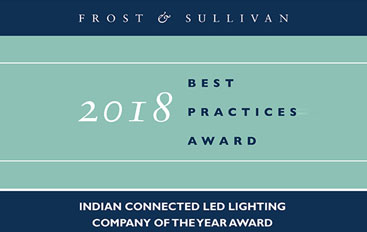Frost & Sullivan Award-2018 Indian Connected LED Lighting Company of the Year Award
