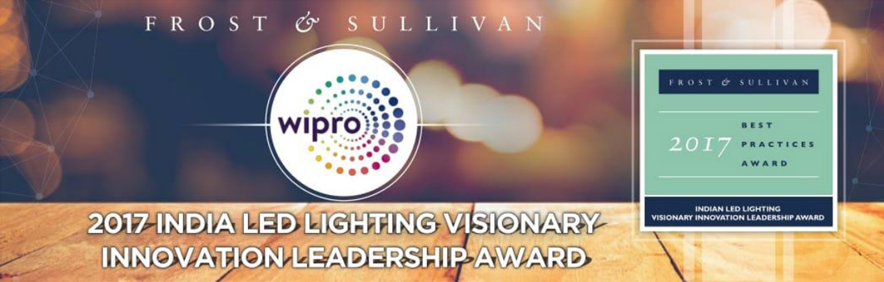Wipro Lighting wins the Frost & Sullivan - 2017