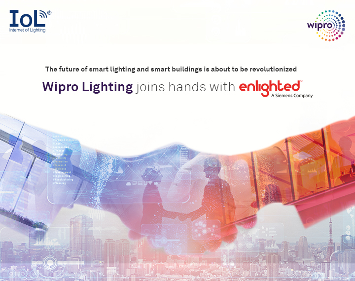 Wipro Lighting Partners with Enlighted, for IoT enabled Lighting Solutions