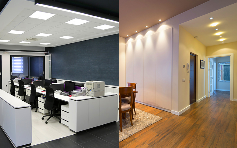 Luminaire Comparison: Commercial Lighting vs. Residential Lighting