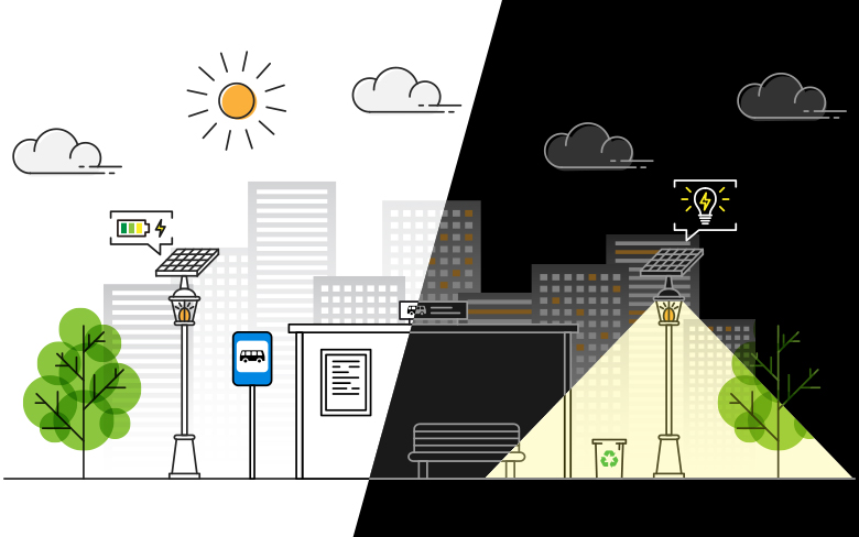 How to make street lights more efficient and sustainable?