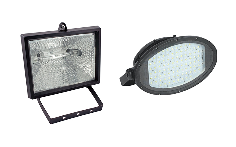 Luminaire Comparison: LED floodlights vs. Halogen floodlights
