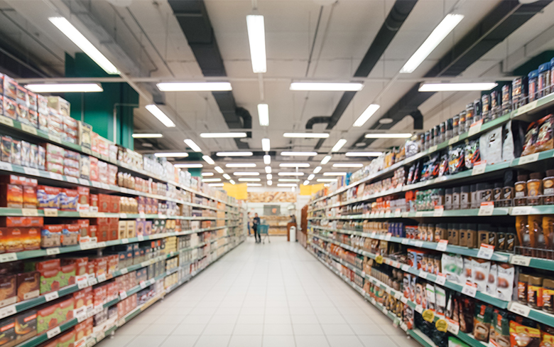 LED lighting for supermarket and grocery stores