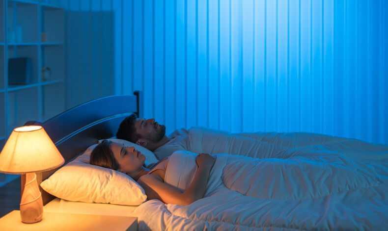 Warm light Low intensity